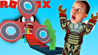 FIDGET SPINNER OBBY!! - ROBLOX