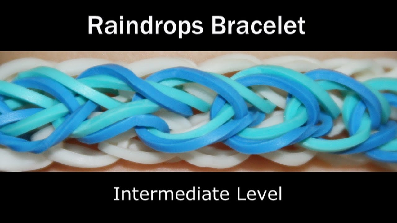 Rainbow Loom 174 Raindrops Bracelet Youtube