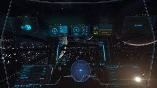 Star Citizen 2.0 PTU - Constellation supercruising in asteroid belt