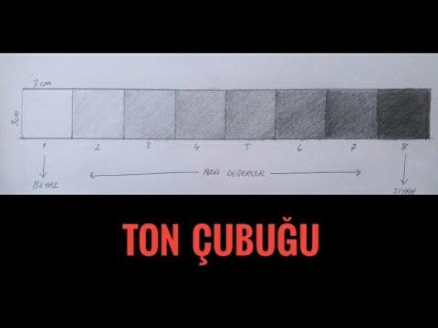 Valör, ton çubuğu,renk Skalası ve Guaj boya kullanımı/Temel Sanat Eğitimi