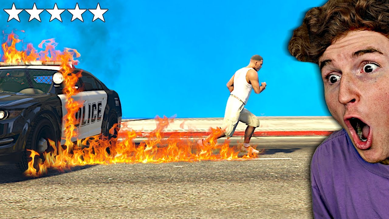 GTA 5 But Every Step Is FIRE.. (Destruction Mods) thumbnail
