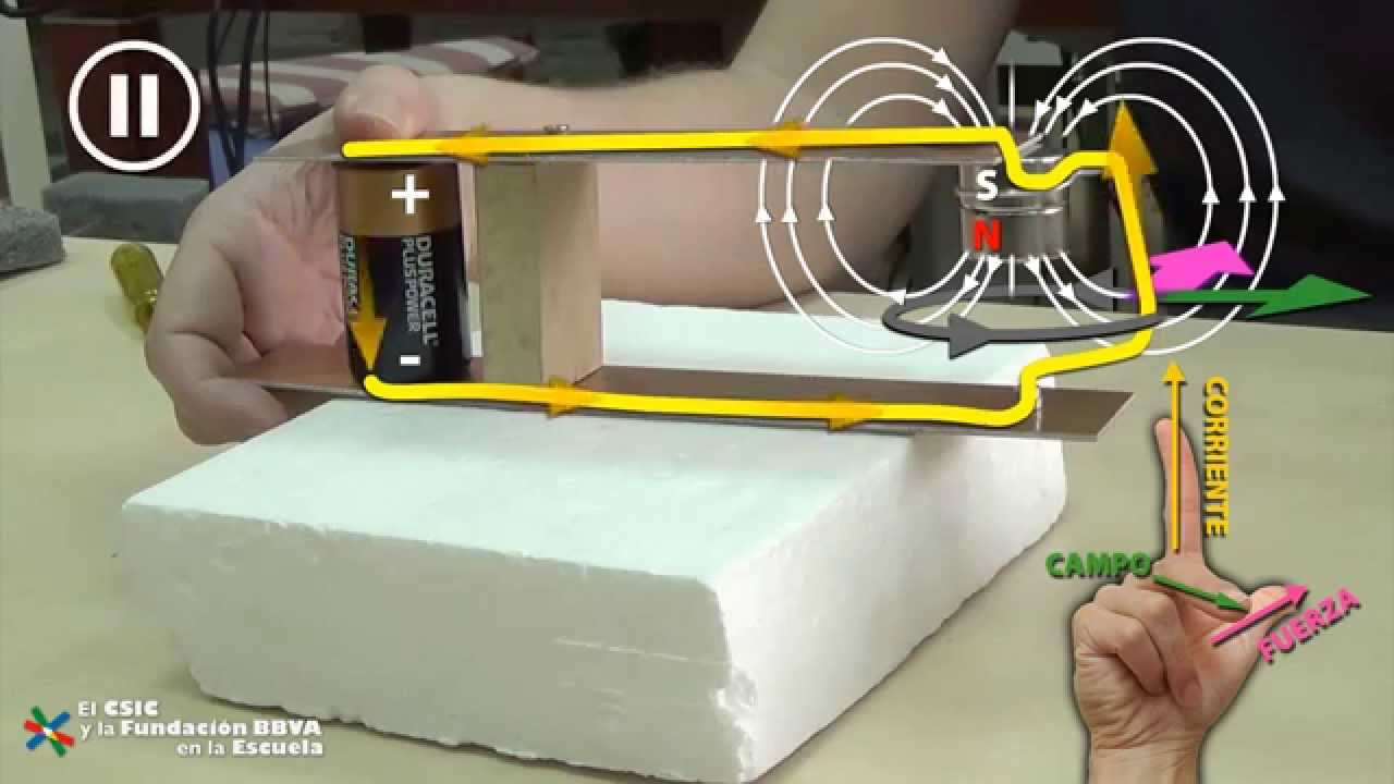Primer motor electrico de faraday