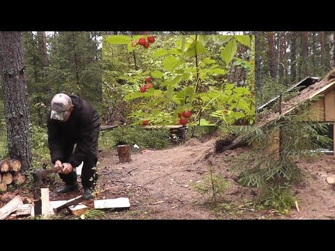 ДАРЫ ЛЕСА! У ДОМИКА ЕСТЬ ВСЁ...  Work and rest in the Russian forest