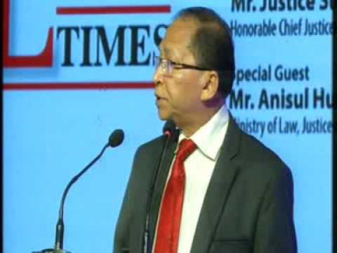 Speech of Chief Justice of Bangladesh in the inaugural ceremony of Bangaldesh Legal Times.