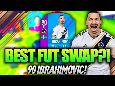 90 ZLATAN IBRAHIMOVIC! THE BEST FUT SWAP CARD?! FIFA 18 ULTIMATE TEAM!