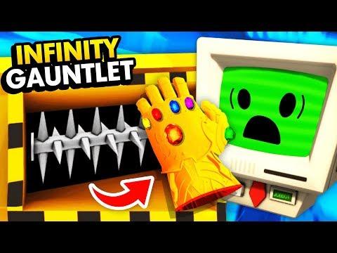 Destroying The INFINITY GAUNTLET With HUGE SHREDDER (Job Simulator VR Funny Gameplay)