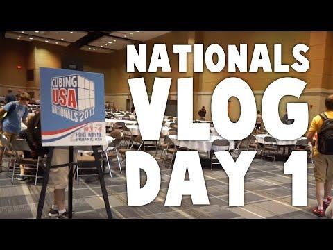 CubingUSA Nationals 2017 Vlog Day 1!