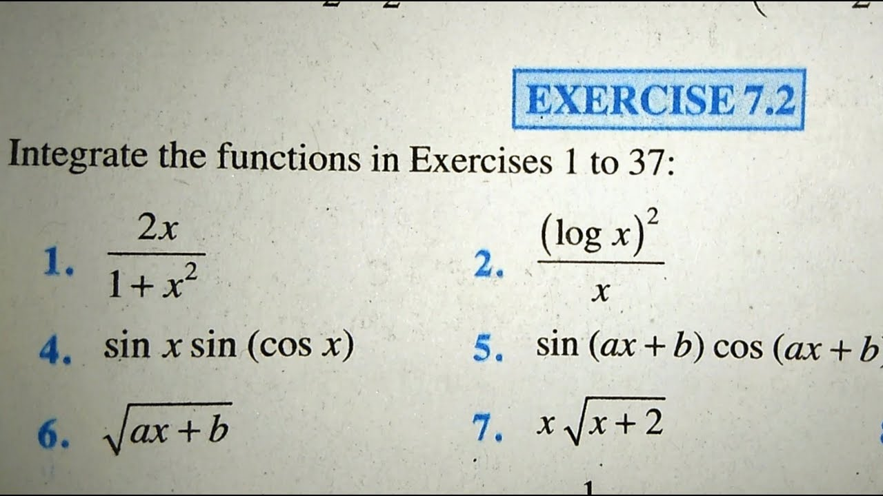 12 th (NCERT) Mathematics-INTEGRATION (CALCULUS) EXERCISE-7 2 1 to 11  (Solution)|Pathshala (Hindi)
