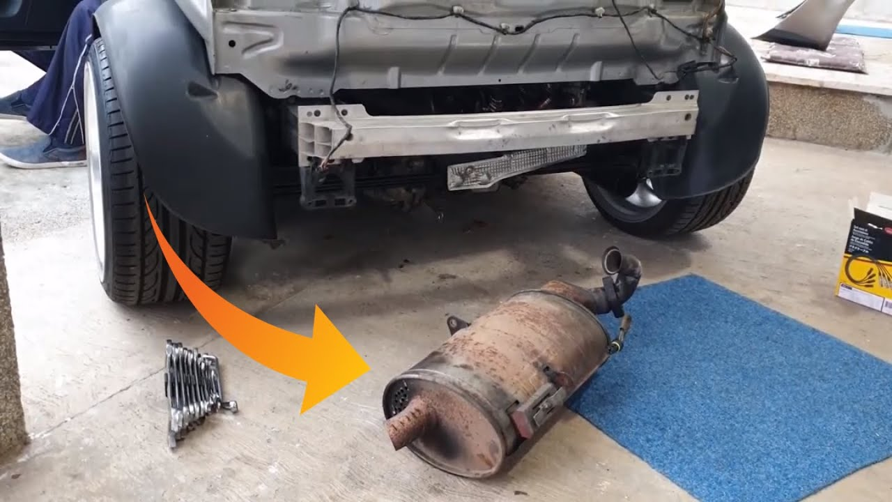 how to install exhaust smart roadster