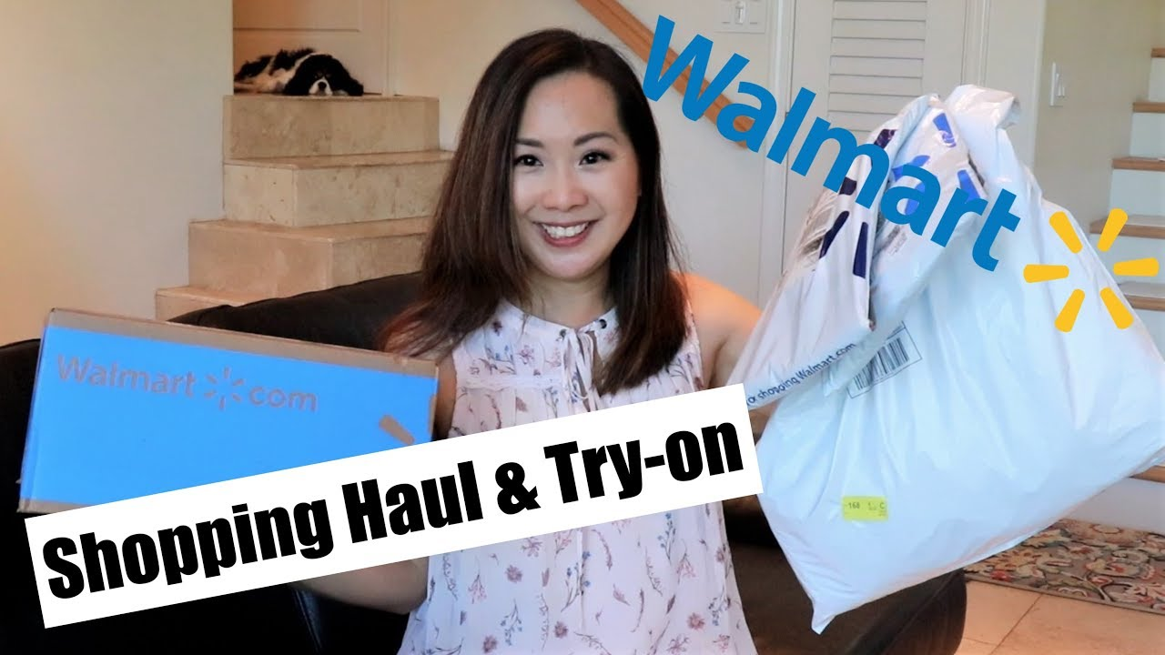 843b8608153a0 Walmart Clothing Haul & Review   Time and Tru   August 2018 - YouTube