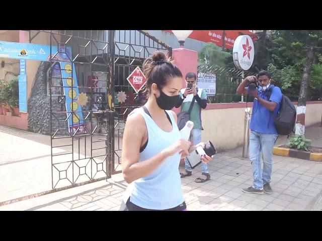 Exclusive Malaika Arora Spotted At Diva Yoga Bandra