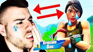 9-year-old boy cries because his Fortnite account was hacked. (Challenge for 500€ Account)