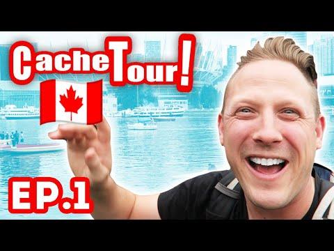 I FOUND MY FIRST GEOCACHE IN CANADA! (Cache Tour Episode 1)