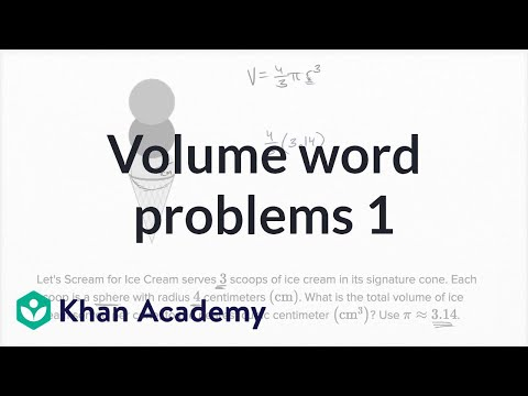 Volume Word Problems — Basic Example | Math | New SAT | Khan Academy