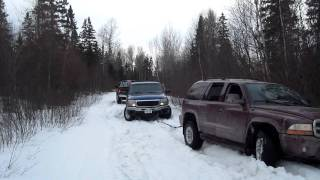 stuck durango pulled by chev pulled by dodge ram fail
