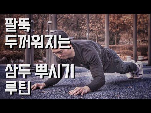 푸쉬업/삼두 운동으로 두꺼운 팔뚝 만들기
