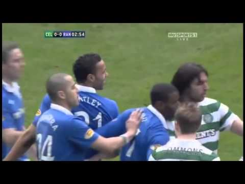 Rangers Kyle Bartley's Tackle On Celtic's Scott Brown
