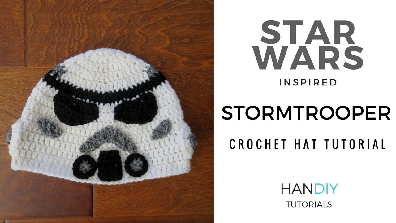 Stormtrooper Crochet Hat Tutorial inspired by Star Wars - YouTube