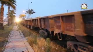 بالفيديو والصور .. لأول مرة بميناء دمياط نقل الحديد 'البليت' بالقطار