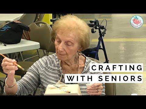 arts-&-crafts-with-seniors-|-senior-center-gets-surprise!