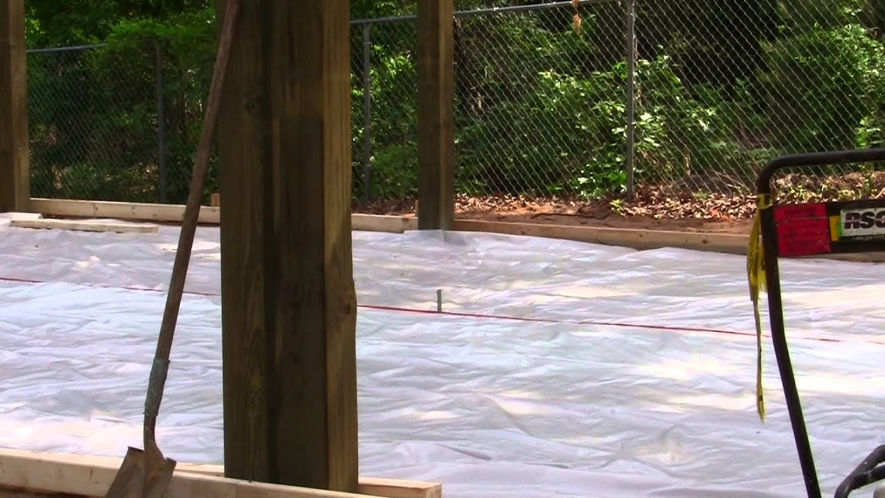 hight resolution of diy installing concrete slab for 20x30x10 pole barn or build your own garage part 2
