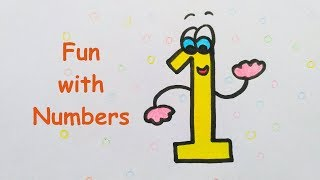 Fun with numbers / Draw with numbers / Number drawing for kids