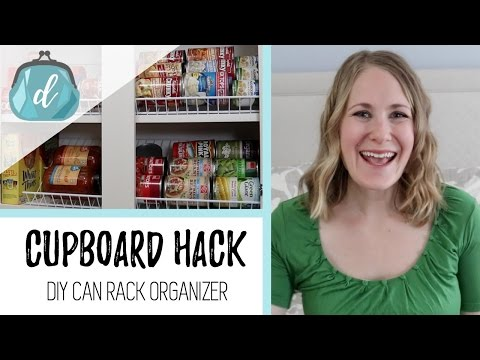 Cupboard DIY Can Rack Organizer | Small Space + Apartment Pantry Organization Ideas