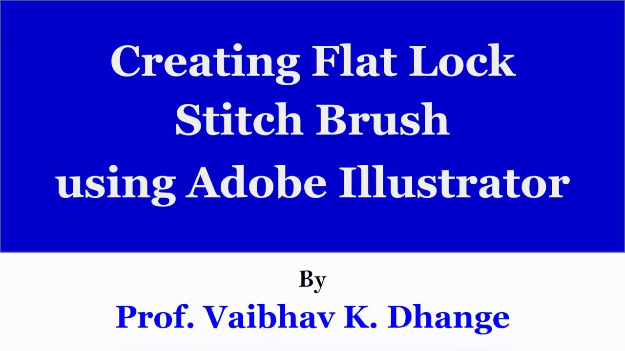 Creating Flat Lock Stitch Brush in Illustrator