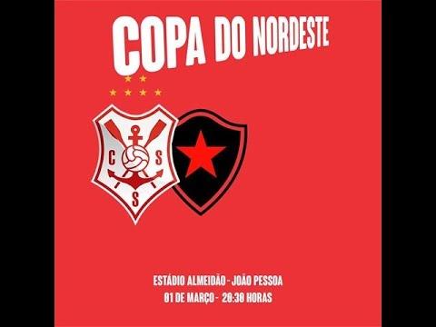 Botafogo/PB 2x2 Sergipe/SE - 4ª Rodada - Copa do Nordeste 2017