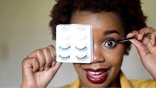HOW TO APPLY FALSE LASHES LIKE A PRO!  (FOR BEGINNERS)