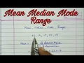 Mean median mode and range ll statistics ll central tendency easy way class 9 cbse mp3