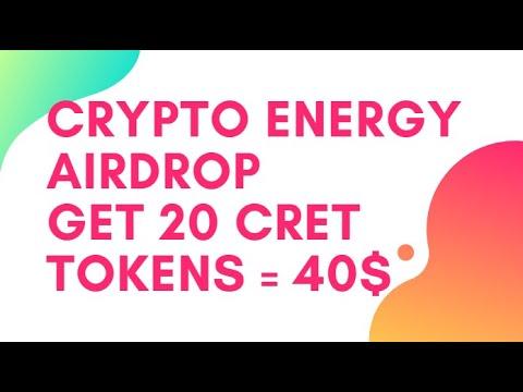 Crypto Energy Airdrop - Получите 20 CRET Token = 40$ / Криптовалюта бесплатно / Crypto Free