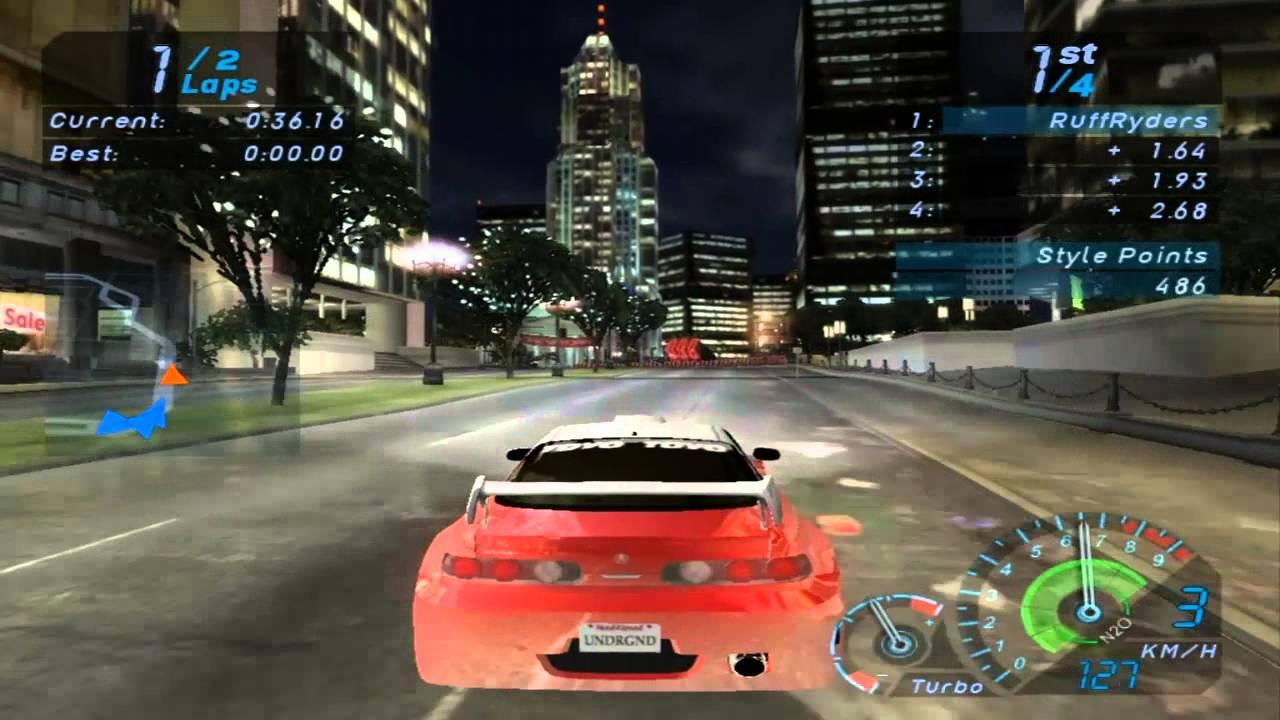 NFS Underground First Race YouTube