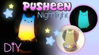 DIY MINIATURE PUSHEEN PASTEL GALAXY NIGHTLIGHT | Polymer Clay & Resin Tutorial | How to make craft
