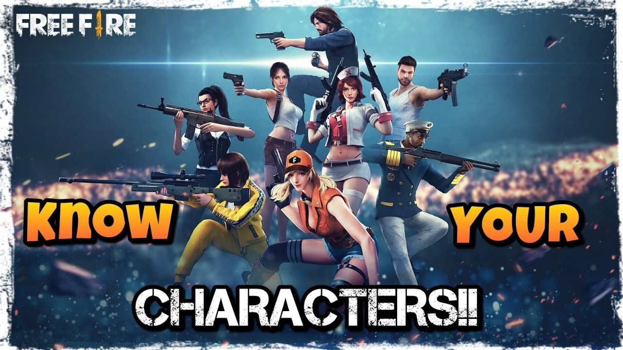 Best Character In Freefire Battleground Select According To Your Need Know Your Character