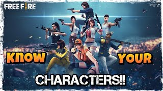BEST CHARACTER IN FREEFIRE BATTLEGROUND!!! SELECT ACCORDING TO YOUR NEED!! KNOW YOUR CHARACTER!!