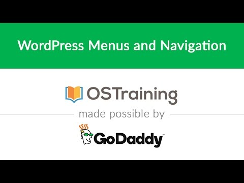 WordPress Beginner Tutorial #28: WordPress Menus and Navigation - 동영상