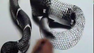 desenho d cobra 3d realista