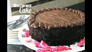 Homemade Birthday Chocolate Brownie Cake Recipe