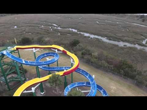 Water park on Jekyll Island Georgia DJI Pantom 3 Drone Footage 2