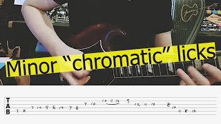 Fusion chromatic outside guitar licks | Kit Tang