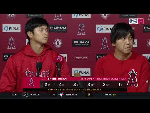 Shohei Ohtani says he will take blister day  day