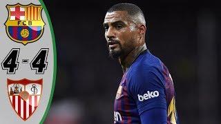Download Video Barcelona vs Sevilla 4 4   Highlights & Goals Resumen & Goles Last Matches HD MP3 3GP MP4