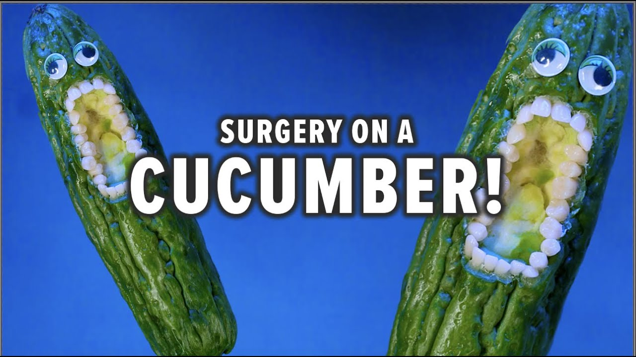 Fruit Surgery - Cucumber Swallows Needle! Discount Dentist Ep 161 #Shorts