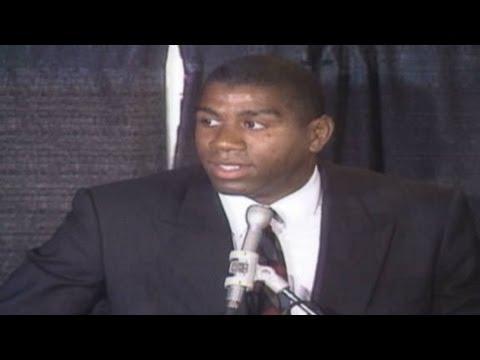 Magic Johnson HIV announcement Part 1 - YouTubeMagic Johnson Aids