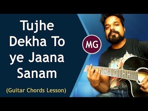 DDLJ - Tujhe Dekha to ye Jaana Sanam || Guitar Chords Lesson || Musical Guruji