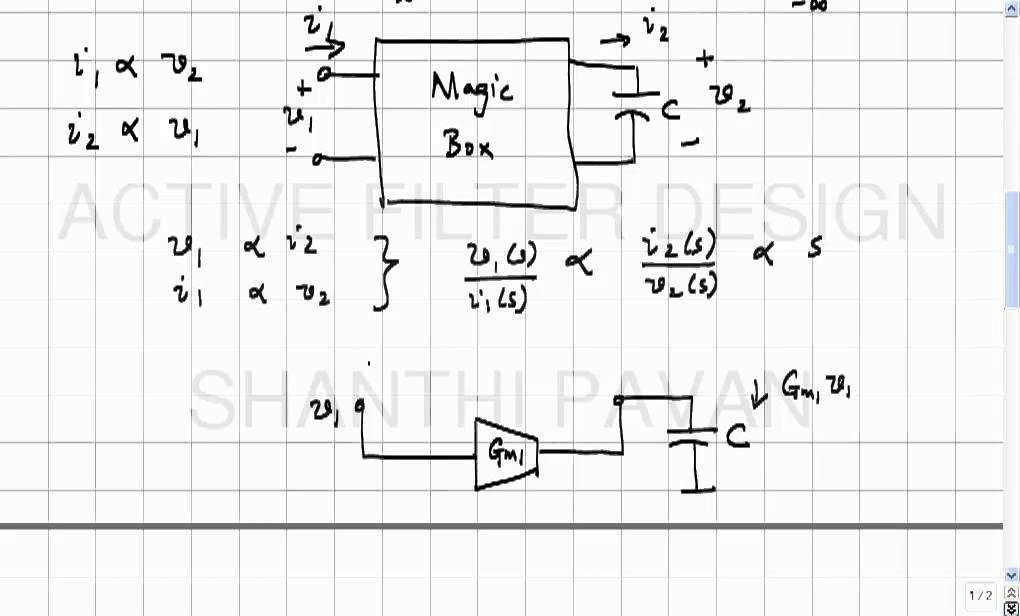 AFD15 - Emulation of an inductor with a capacitor and controlled sources