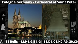 The Bells of Cologne Cathedral at Germany.