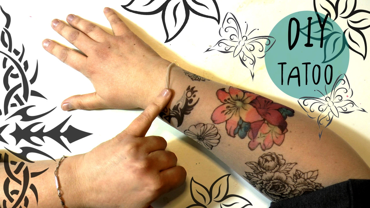 Amazing diy tattoo with sharpies and copic markers for How to make a fake tattoo look real