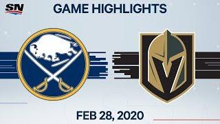 NHL Highlights   Sabres vs. Golden Knights – Feb. 28, 2020